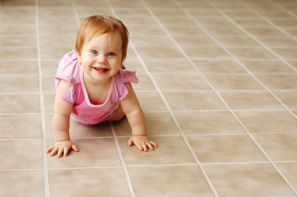 Baby on Tile