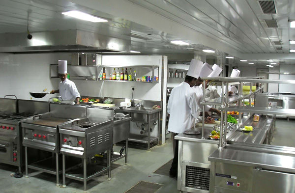Kitchen with Chefs